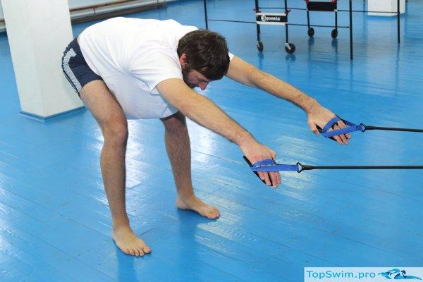 """Упражнение для плавания на суше """"Руки дельфин"""" - начальная фаза гребка"""