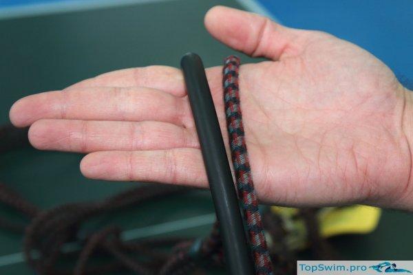 Латексная трубка и резина в матерчатой оплетке
