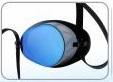 оттенок зеркального напыления - синий